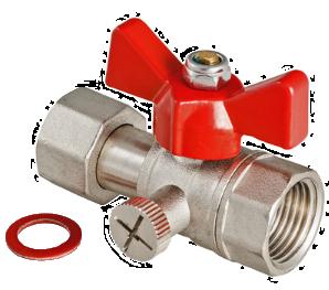 Кран шаровый для подкючения манометра, корпус - латунь, седельные кольца - тефлон, уплотнение штока - EPDM, рабочее давление - 1,6 МПа, диапазон температур рабочей среды - +1÷+ 130ºС